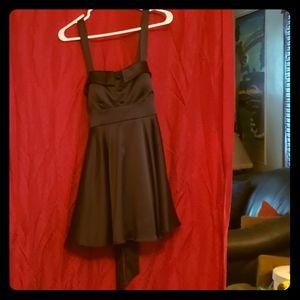 Little Black Dress satiny black sz L